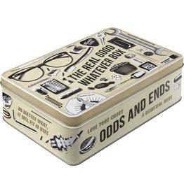 tin box - flat -odds & ends