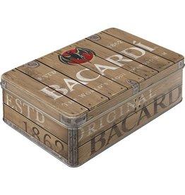 blikken doos - plat - Bacardi