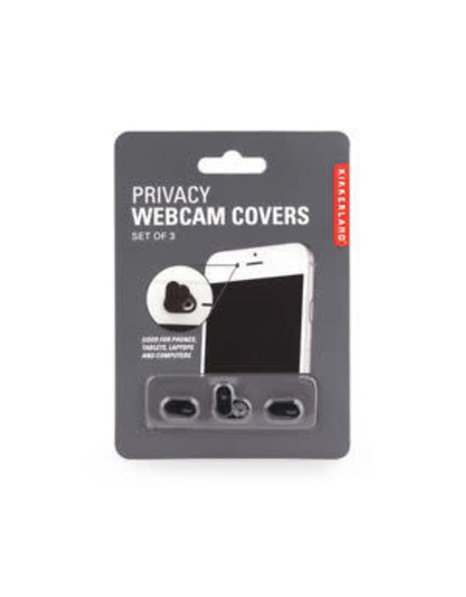 Kikkerland set of 3 webcam covers