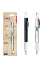 Kikkerland multi tool - 4-in-1 pen (black and silver)