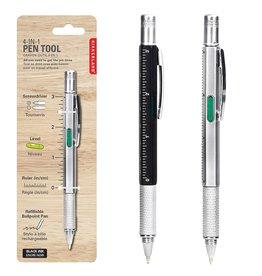 Kikkerland multifunctionele pen (zwart en zilver)
