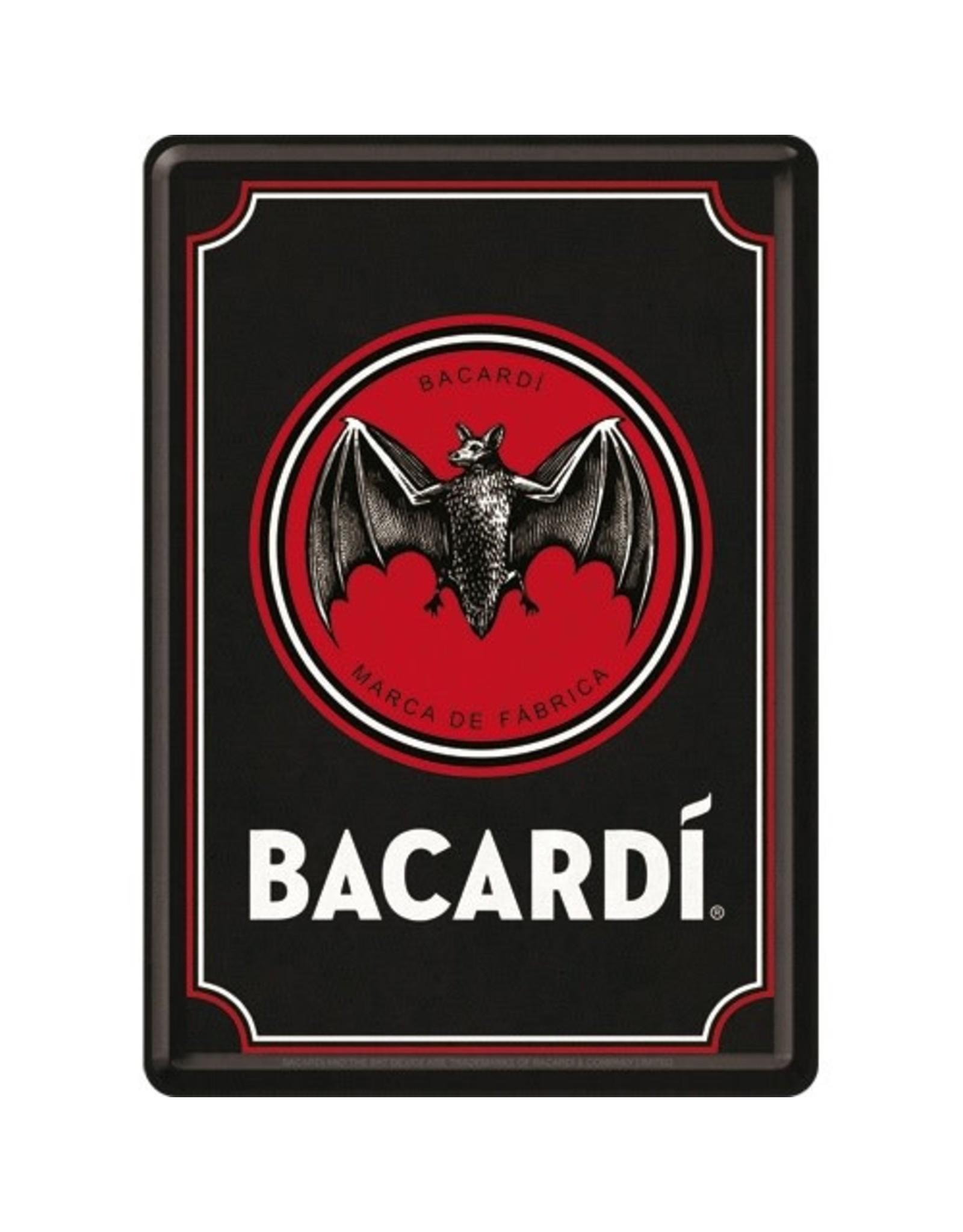 Nostalgic Art metal card of Bacardi