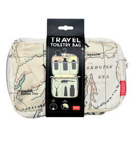 Travel toiletry bag - map