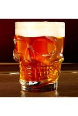 beer glass shaped like a skull