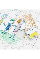 Puzzle of a personalized kids drawing