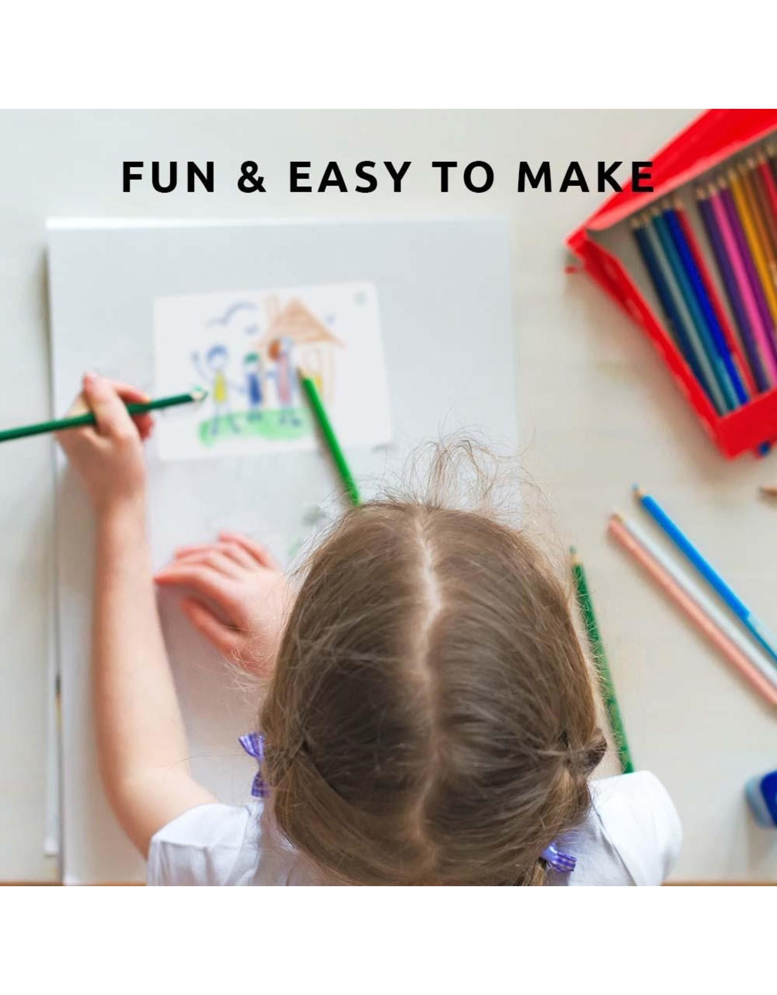 DIY keyring with self-made  kids drawing
