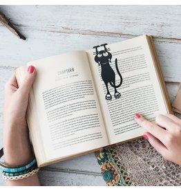 bookmark - curious cat (black)