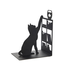 bookend - cat with bookshelf