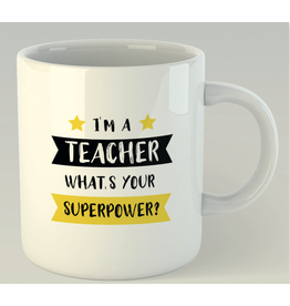 Jelly Jazz mug - I'm a teacher, what's your superpower?
