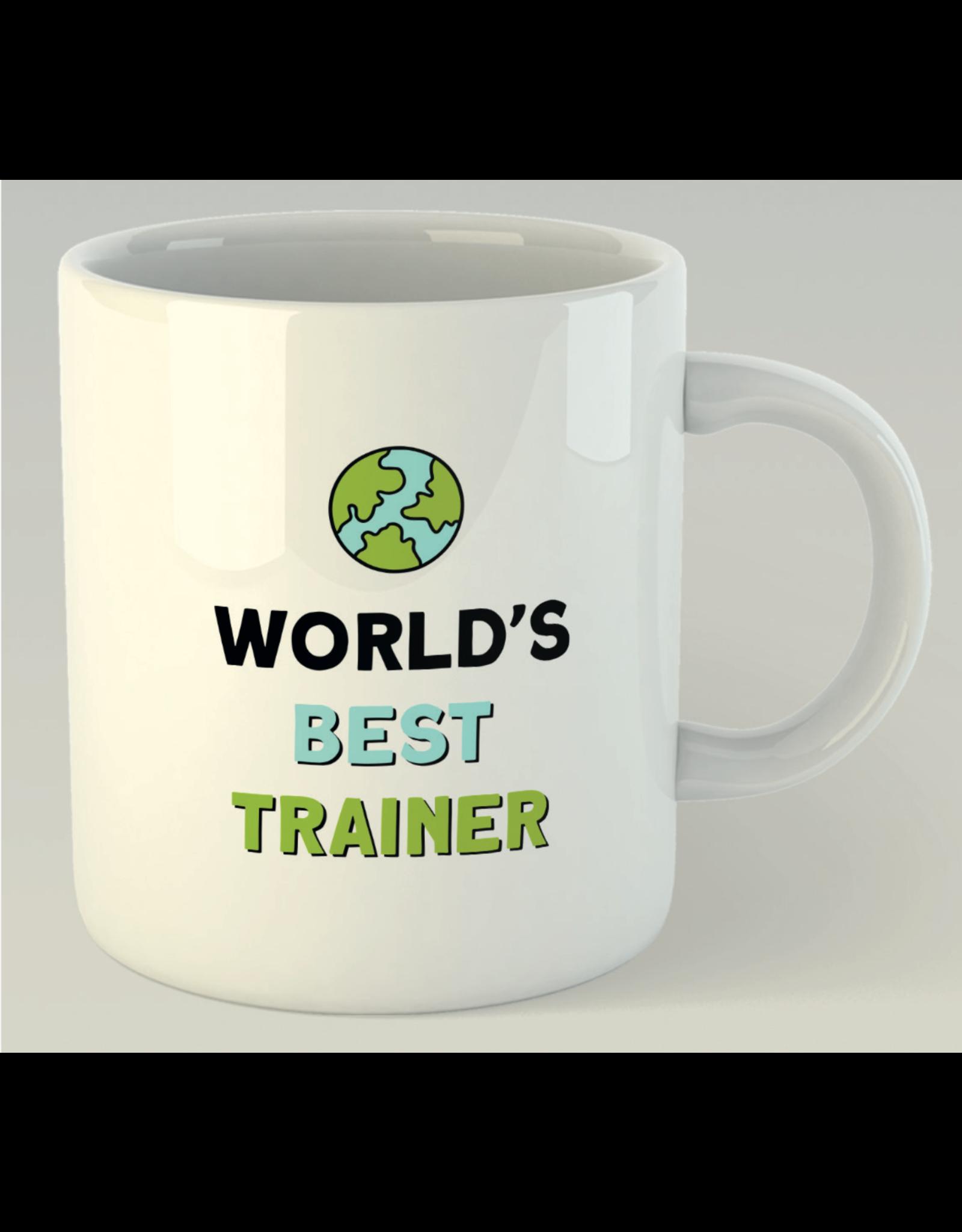 Jelly Jazz mug with text: world's best trainer