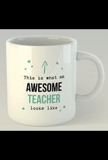 Jelly Jazz mug with text:  awesome teacher