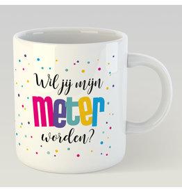 Jelly Jazz mug - wil jij mijn meter worden? (dutch)