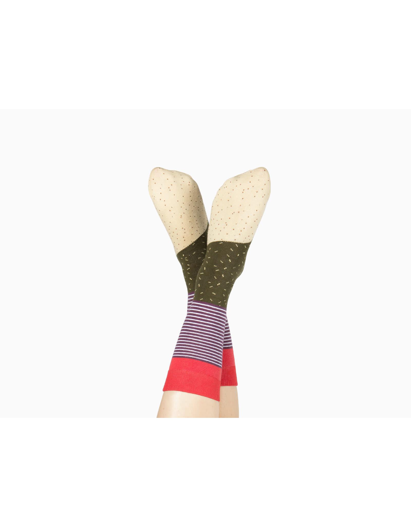 socks with burrito design
