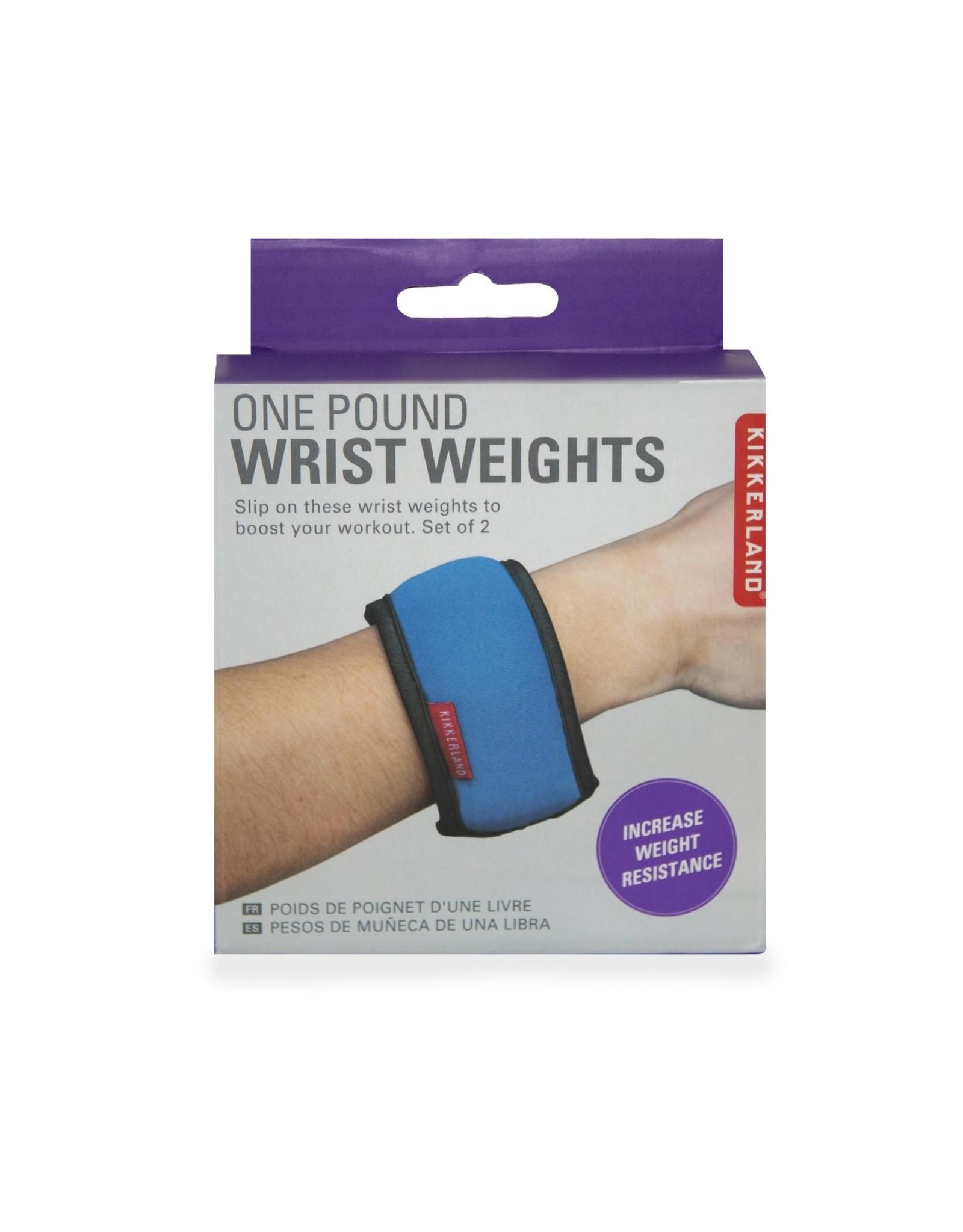 wrist weights of one pound (448 gr)