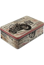 flat tin box with route 66 design