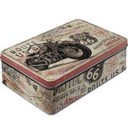 tin box - flat - route 66 bike map