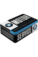"""Nostalgic Art flat tin box with caption """"BMW Motor"""""""
