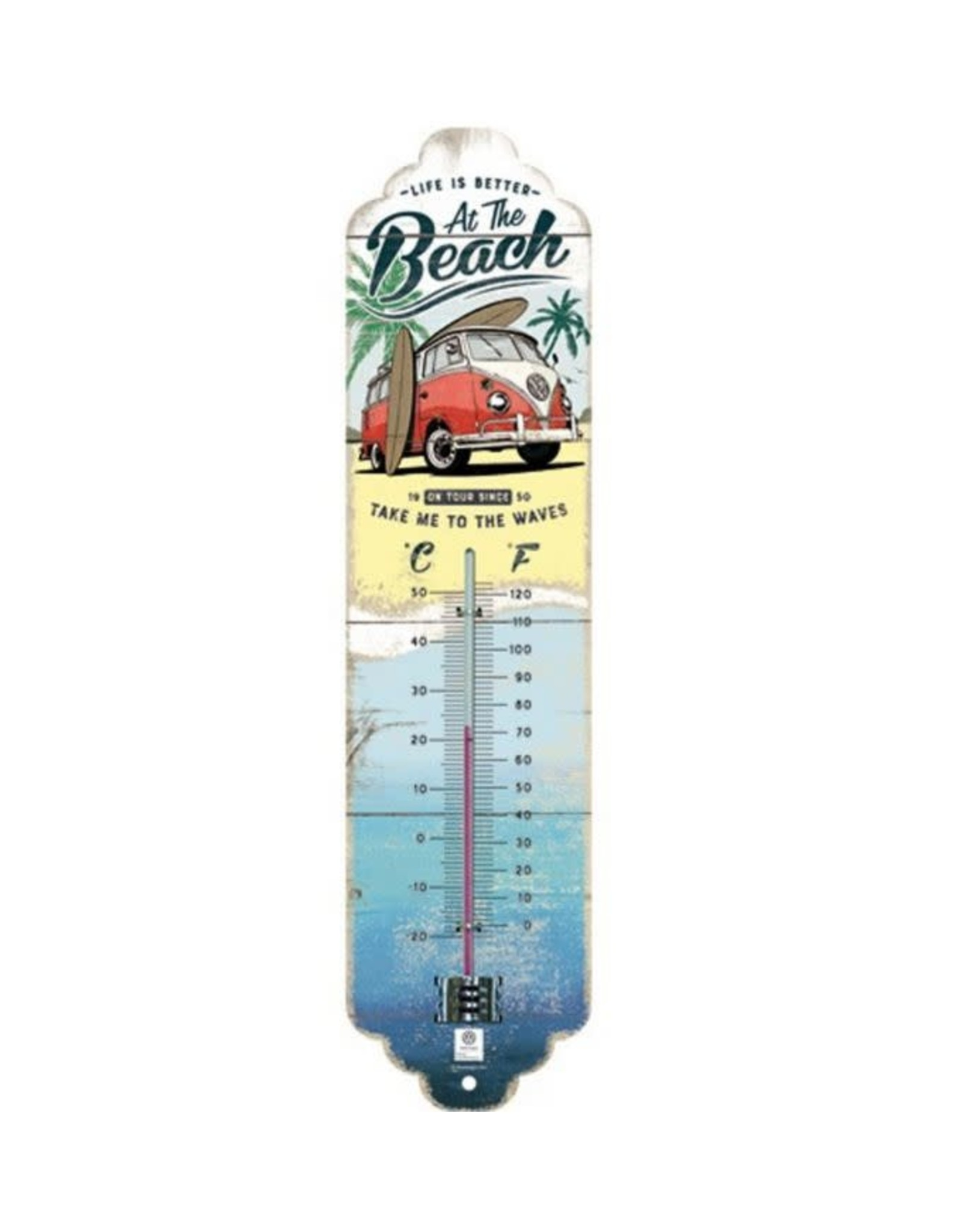 thermometer with beach design