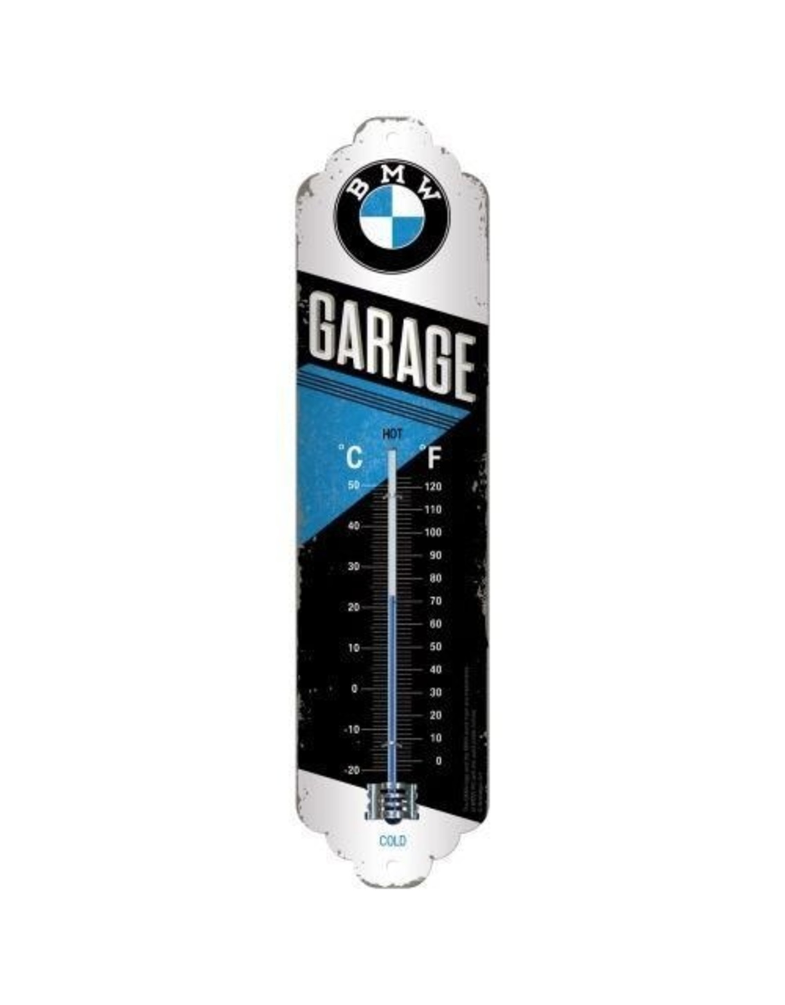 thermometer with BMW garage design