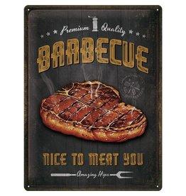 metalen bord - 30x40 - BBQ