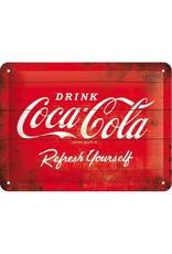 Nostalgic Art metal sign with Coca Cola design