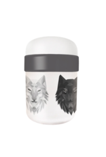 lunchpot with wolf design