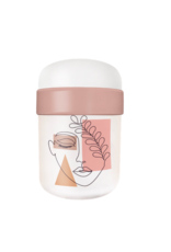 lunchpot with abstract woman design