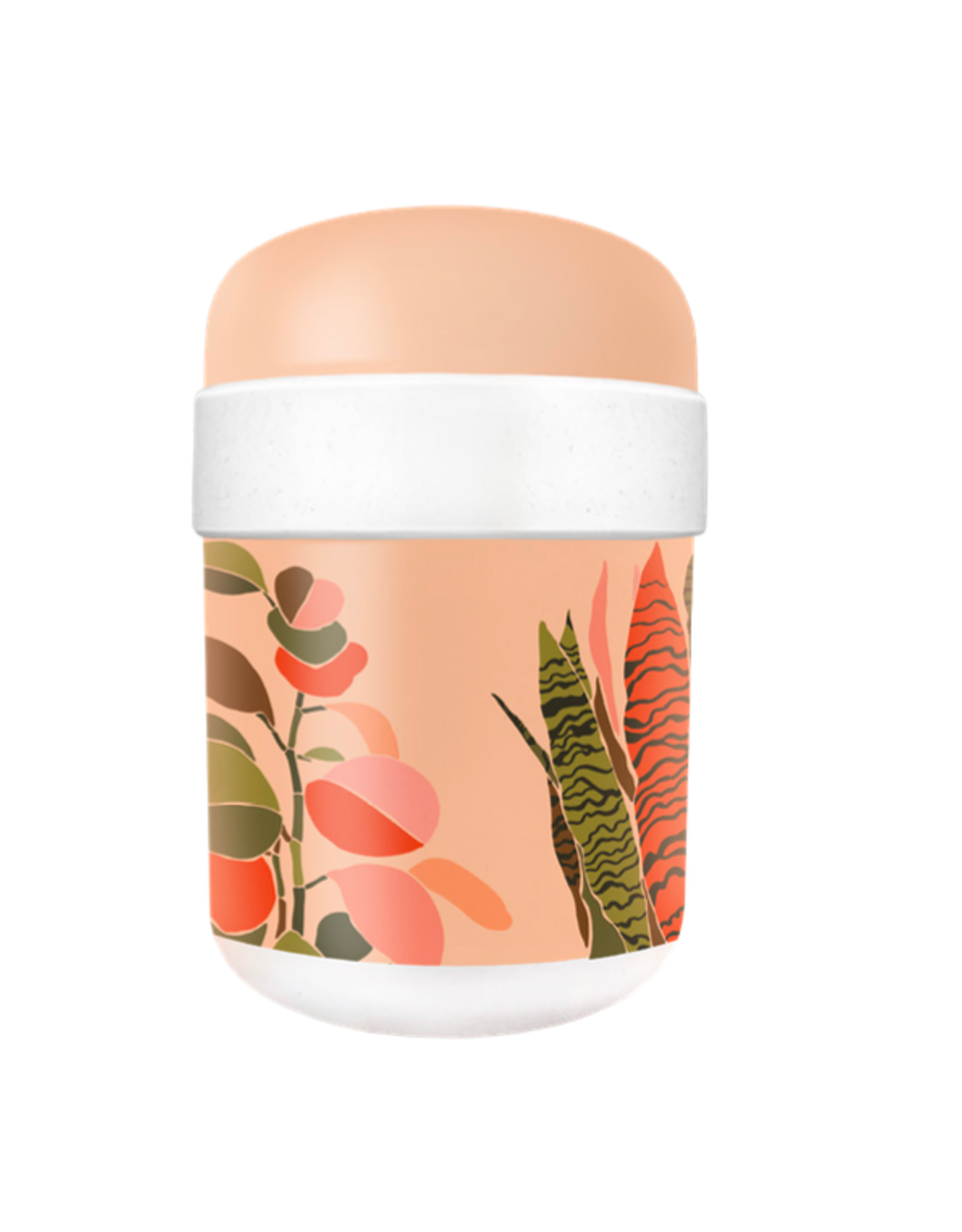 lunchpot with colorful leaves print