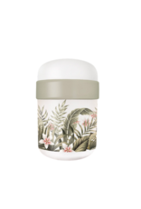 lunchpot with leaves and flowers design