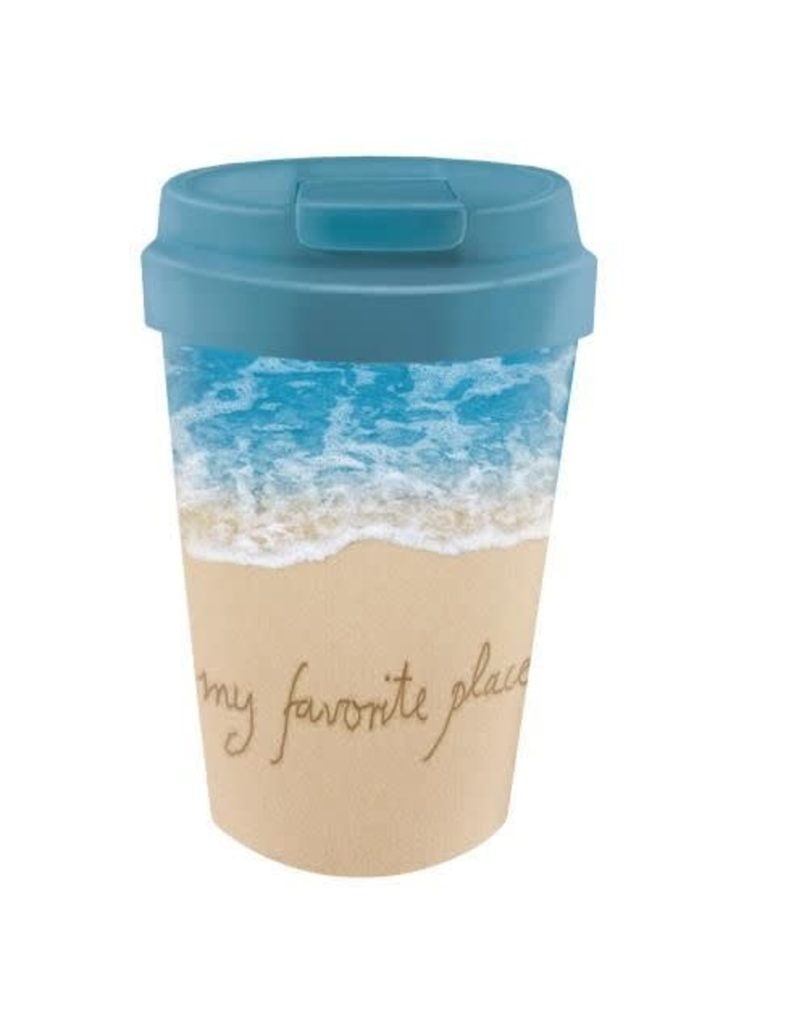 easy cup with beach design