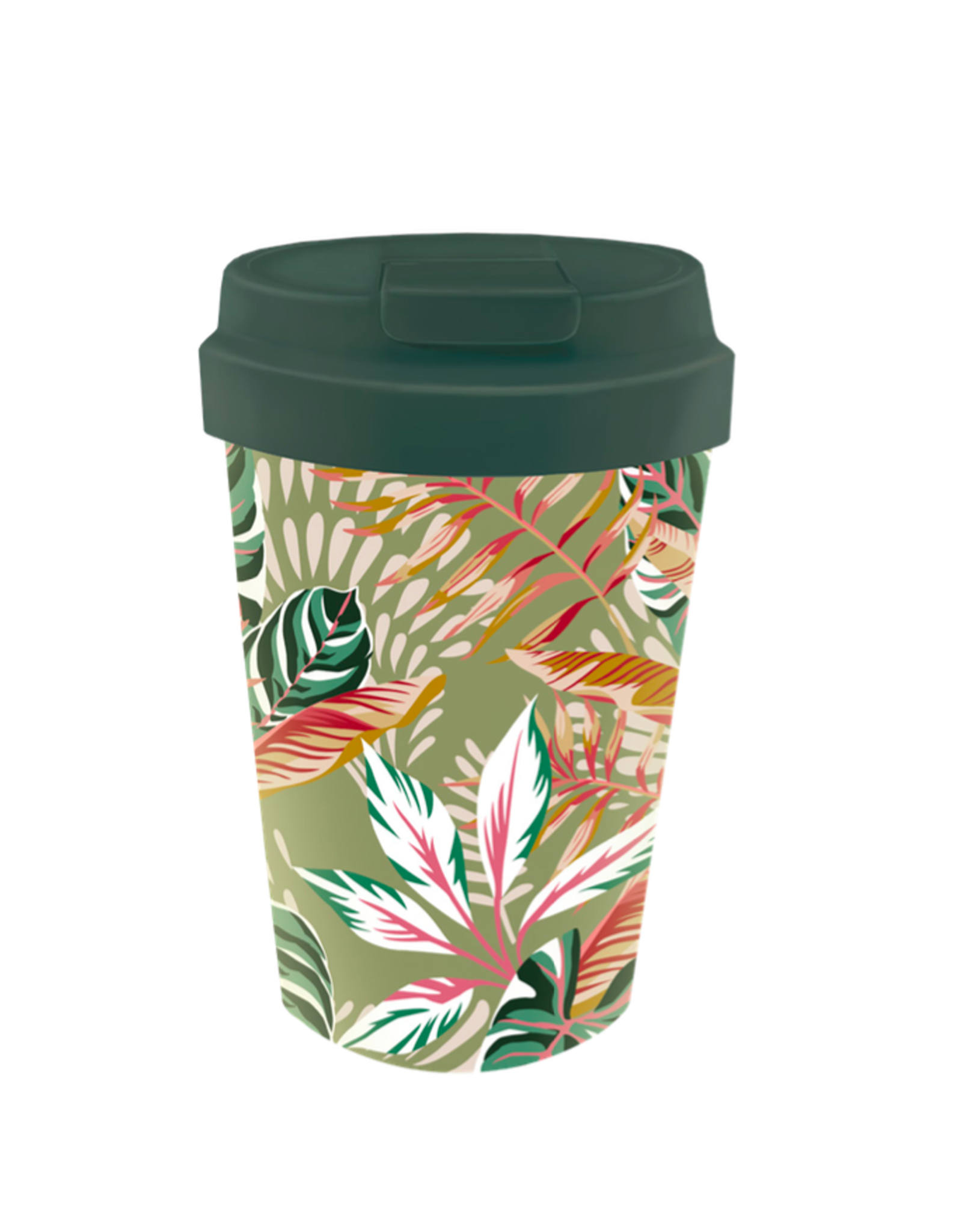 easy cup with leaves design