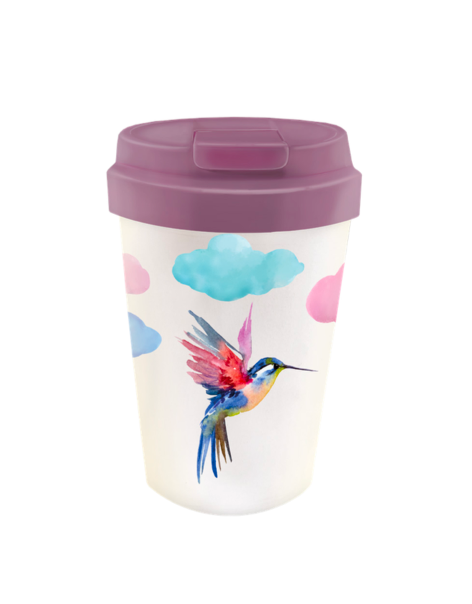 easy cup with watercolor bird