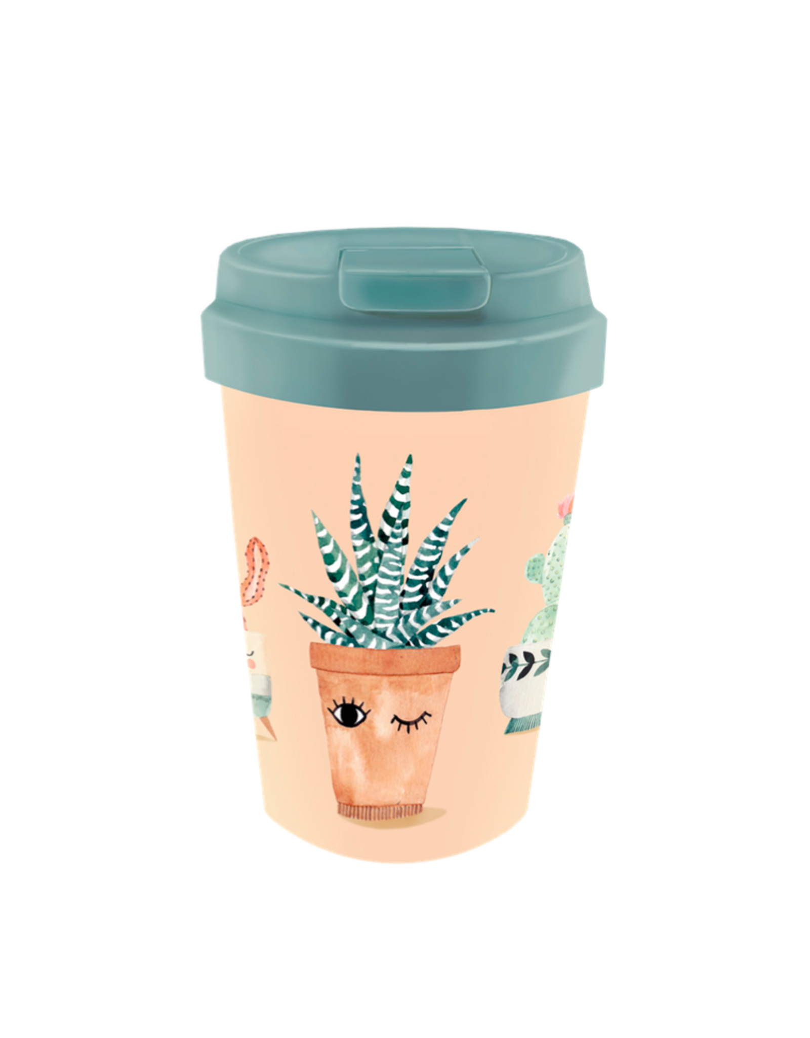 easy cup with plant design
