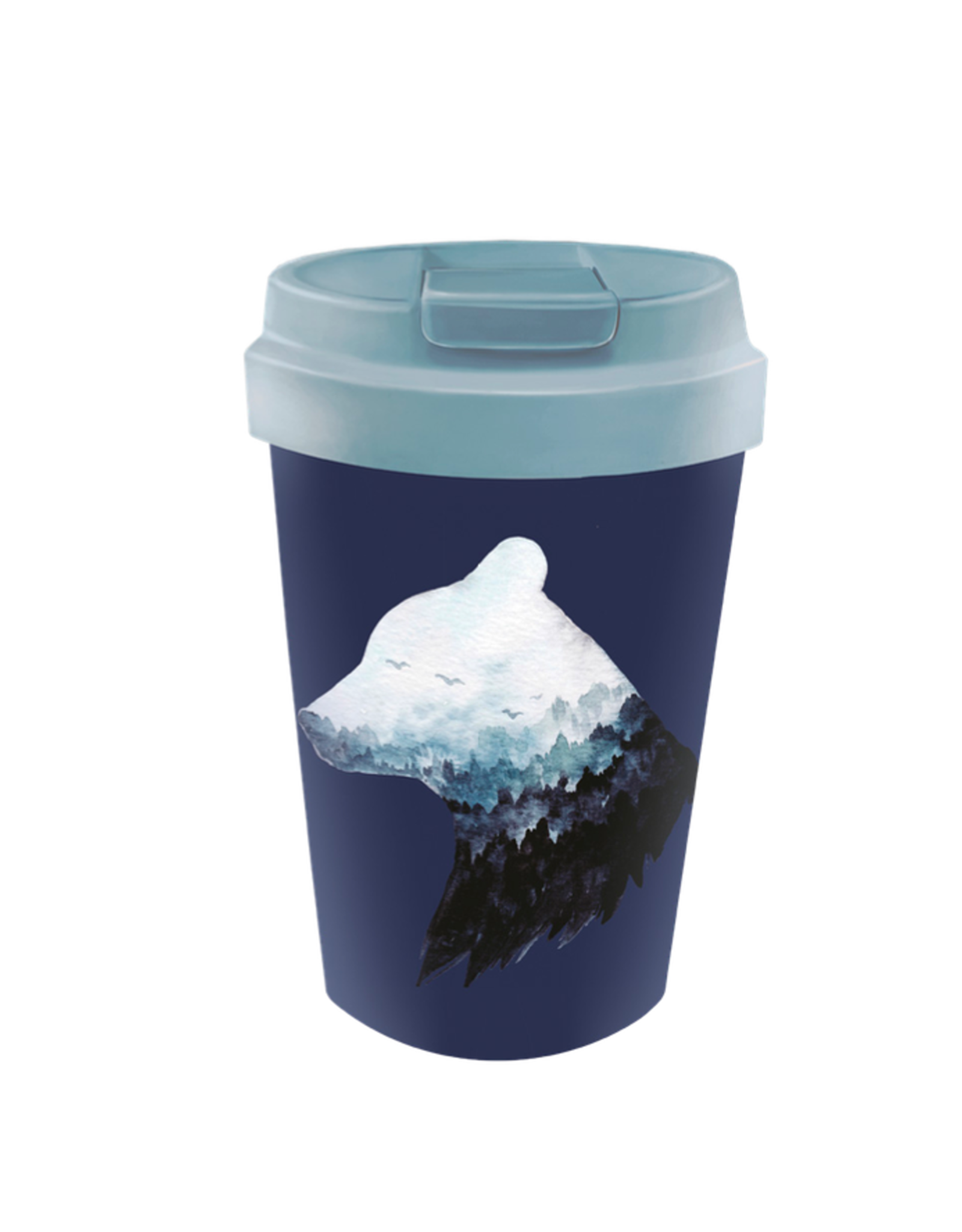 easy cup with mountain bear design