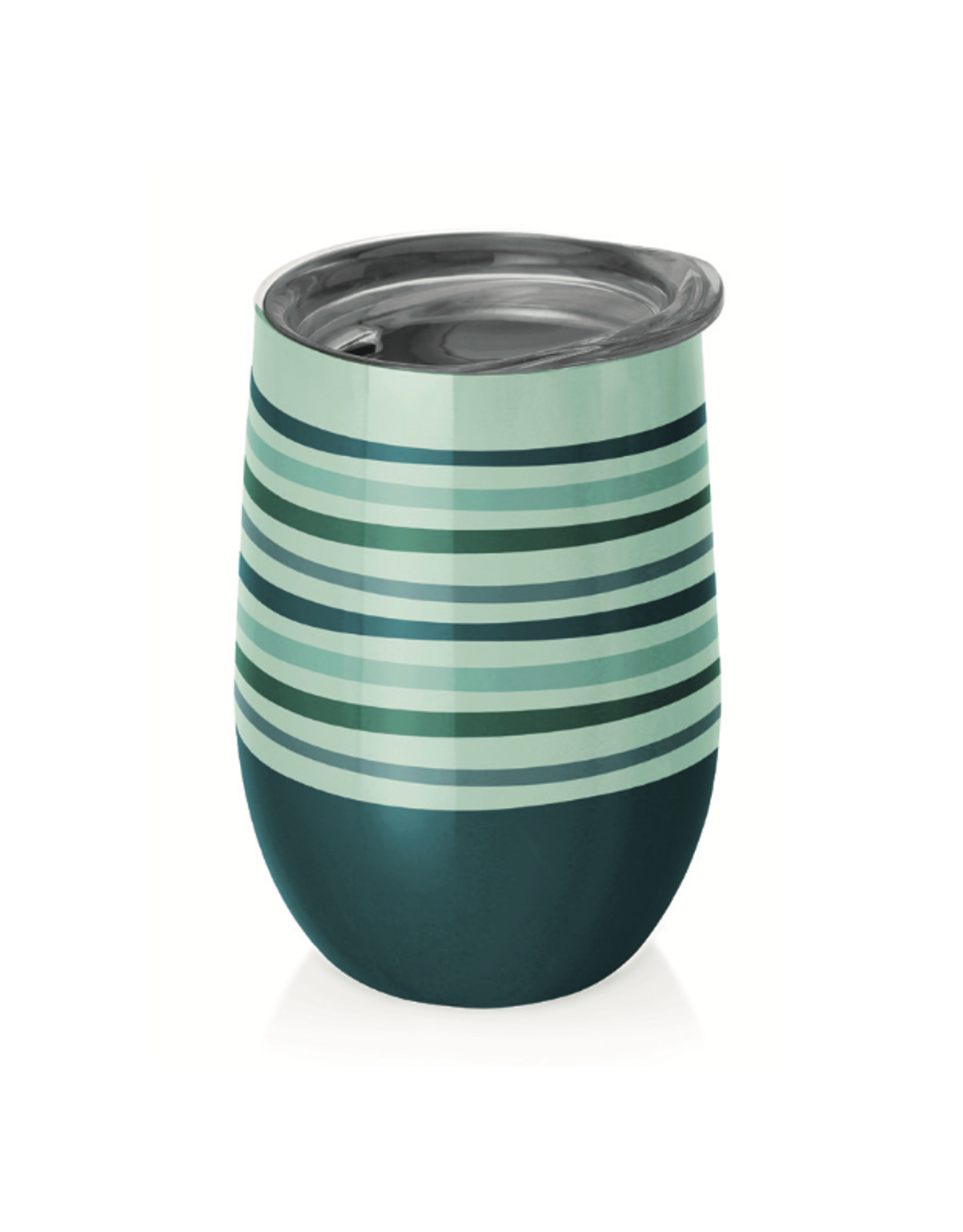 cup with green and blue stripes