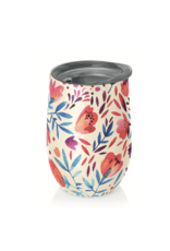cup with watercolour flowers
