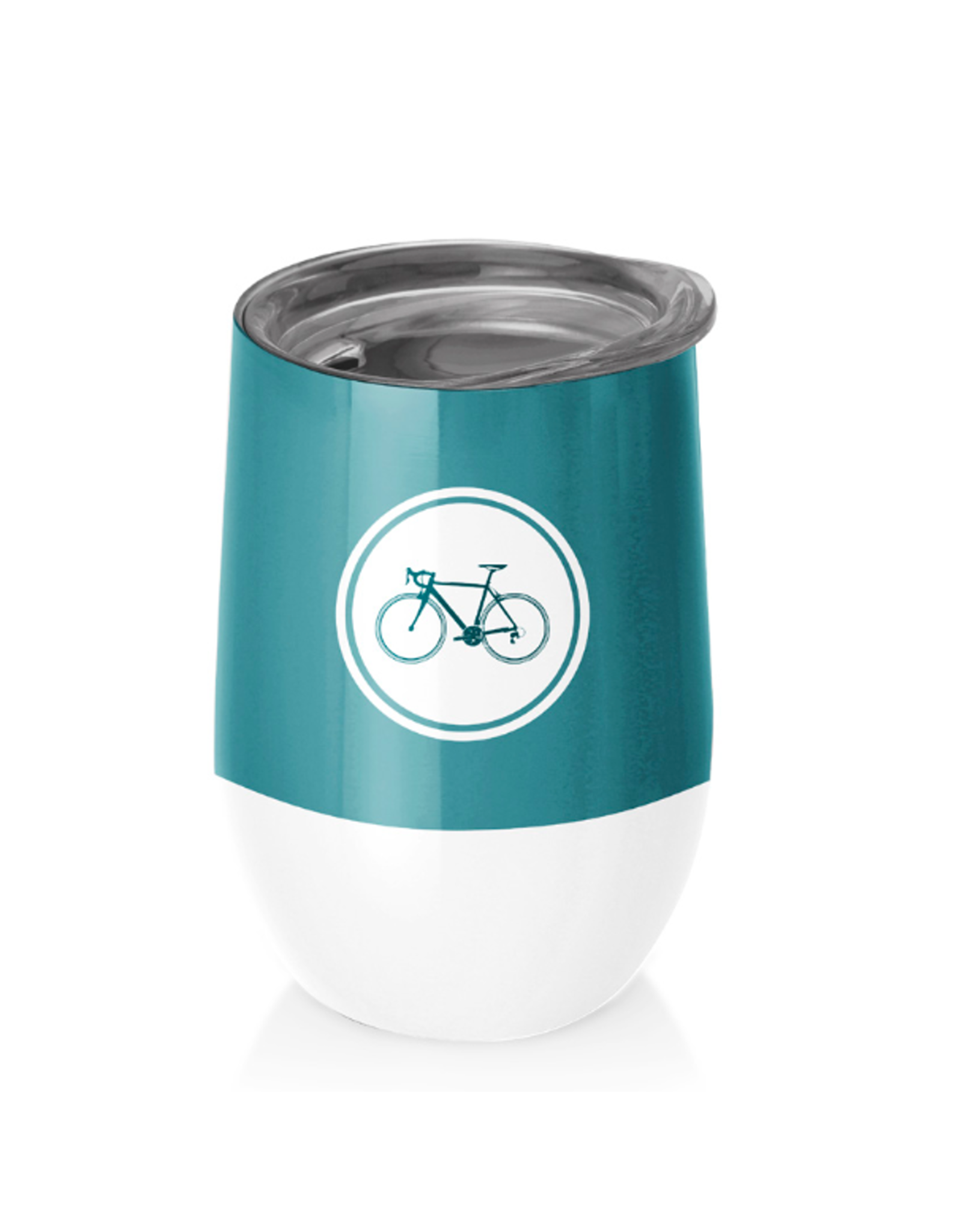 cup with bicycle print
