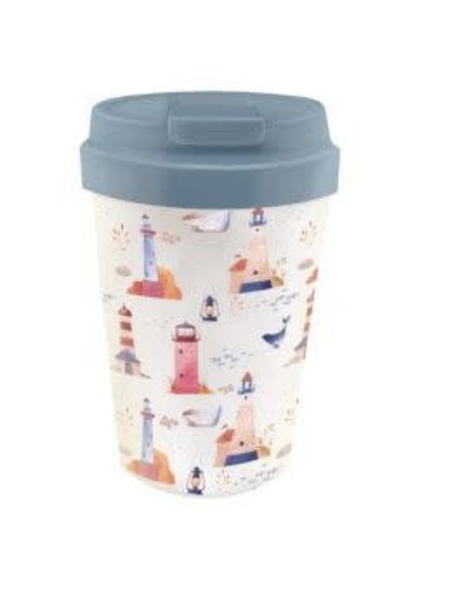 easy cup with lighthouse design