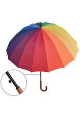 umbrella with rainbow colours