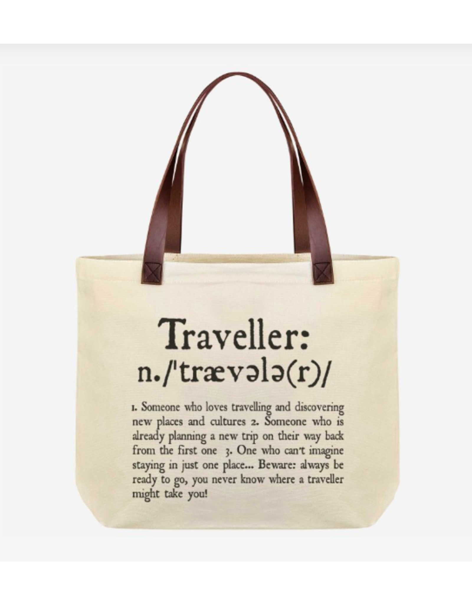 """Legami cotton bag with text """"Traveller"""""""