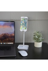 white phone stand