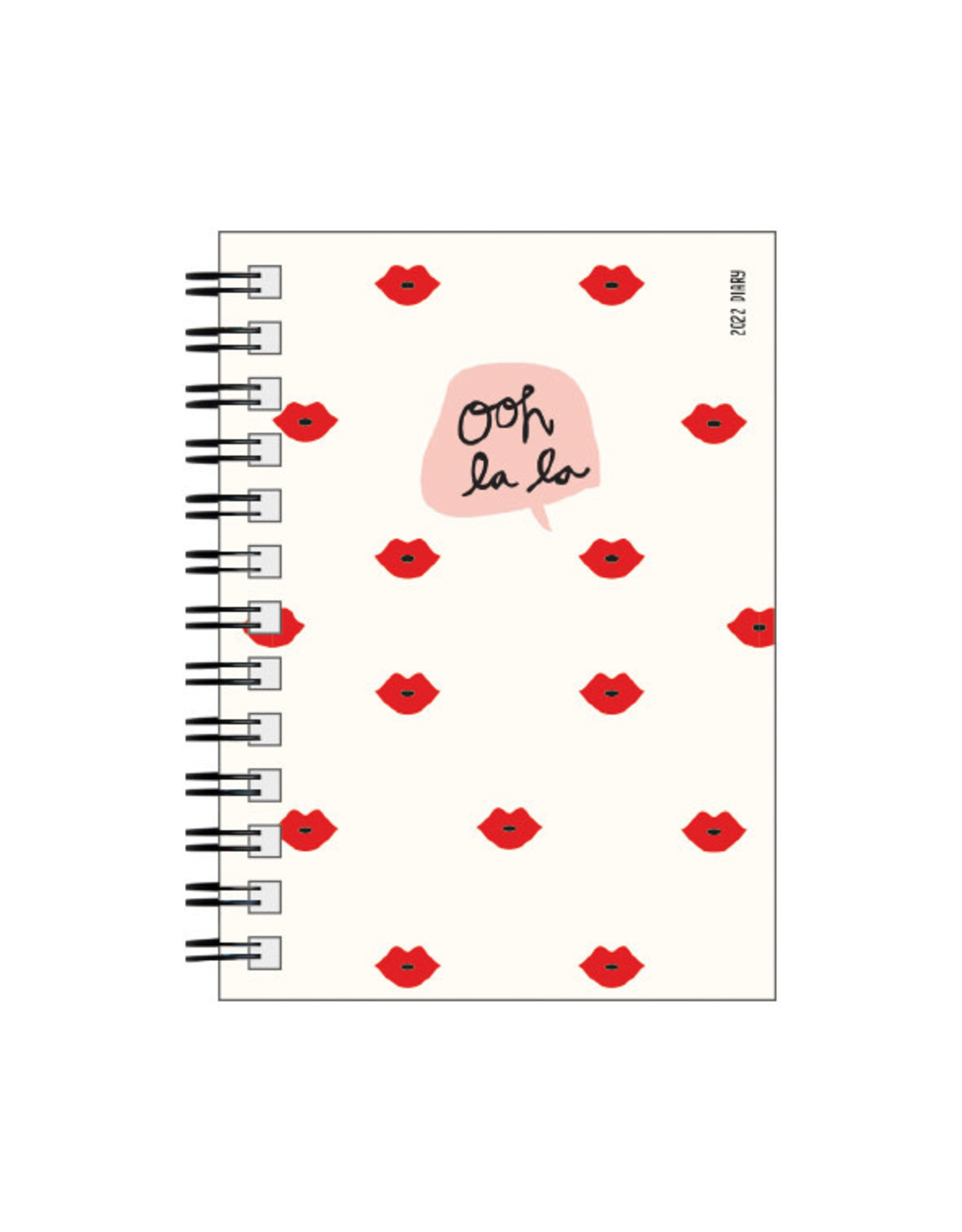 diary (12 months) with rings 'ooh la la'