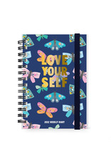 diary (12 months) with rings 'love yourself'