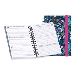 weekly diary 2022 - 12mths - spiral bound - bloom your own way