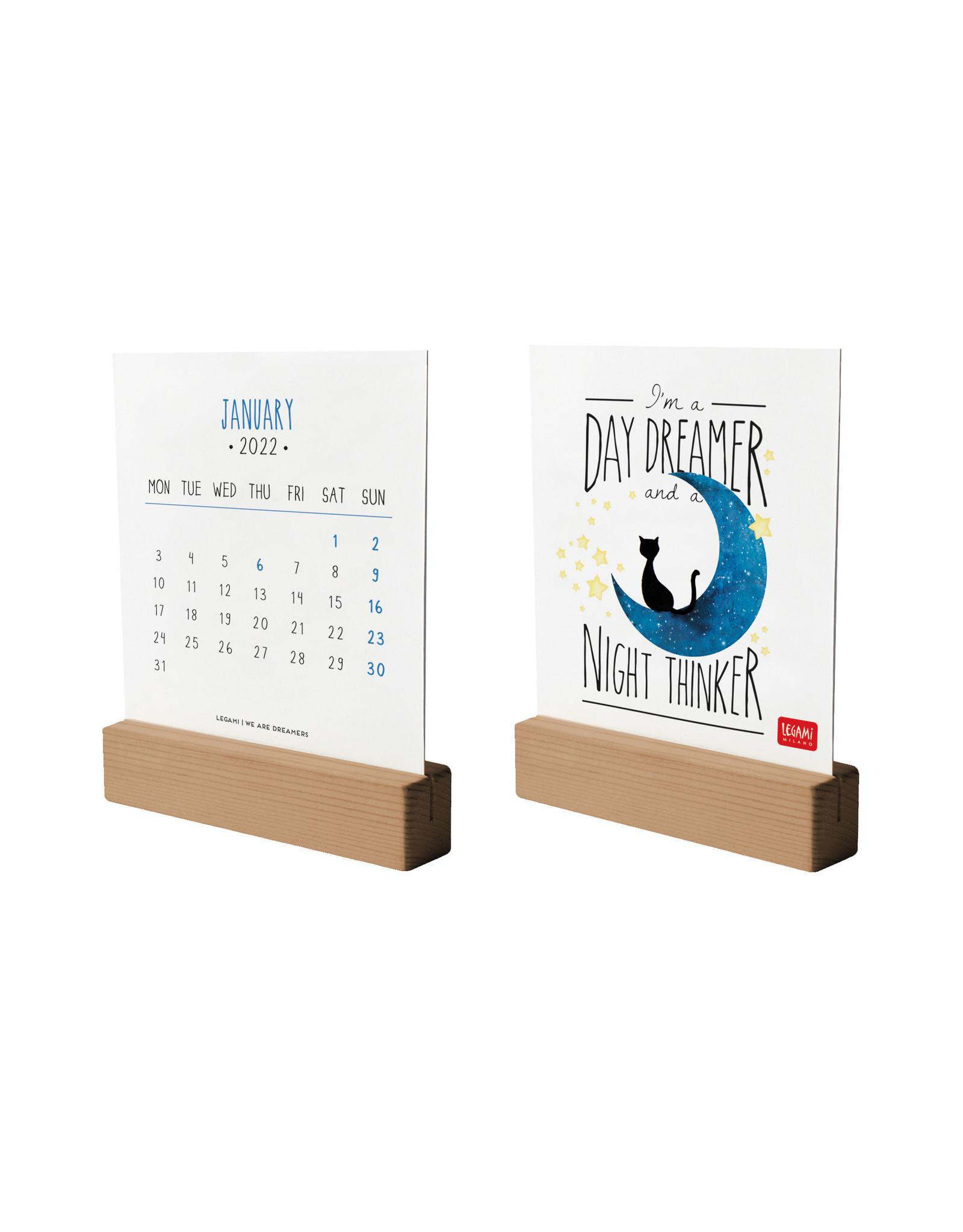 wooden base calendar 2022