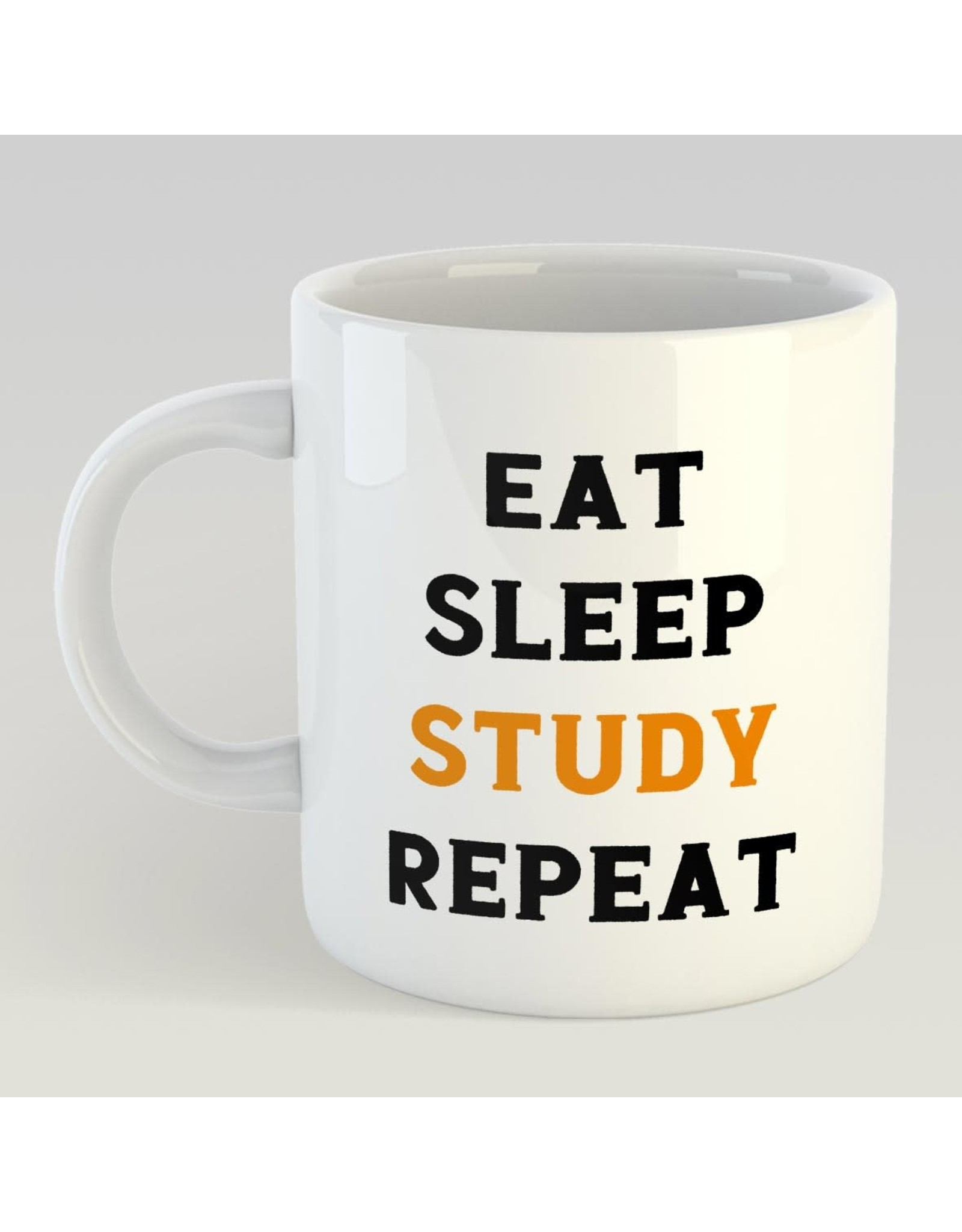Artige printed mug - eat sleep study repeat