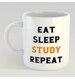 Artige mok - eat sleep study repeat