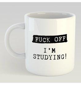 Jelly Jazz mug - fuck off I'm  studying