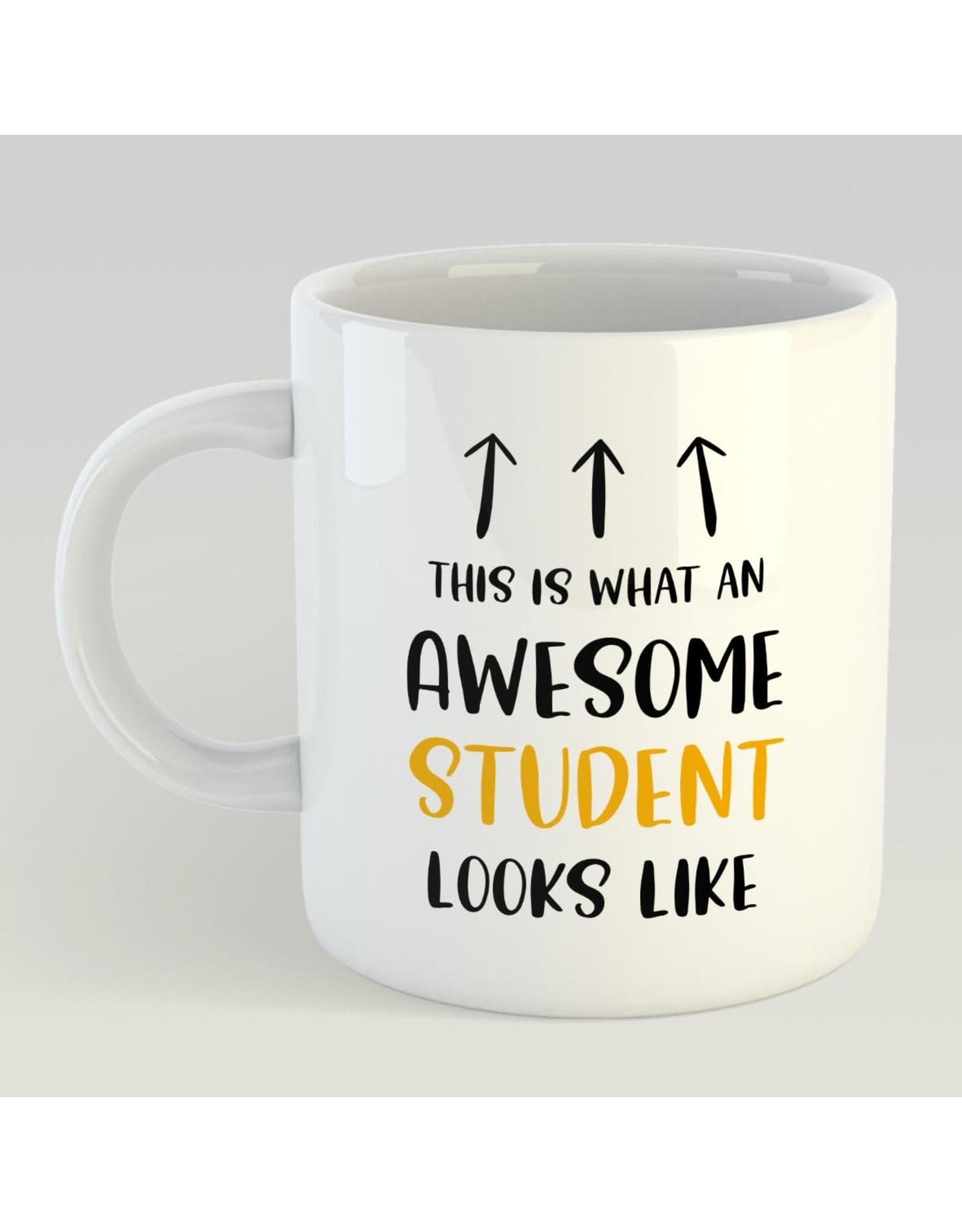 Artige mug with print - awesome student