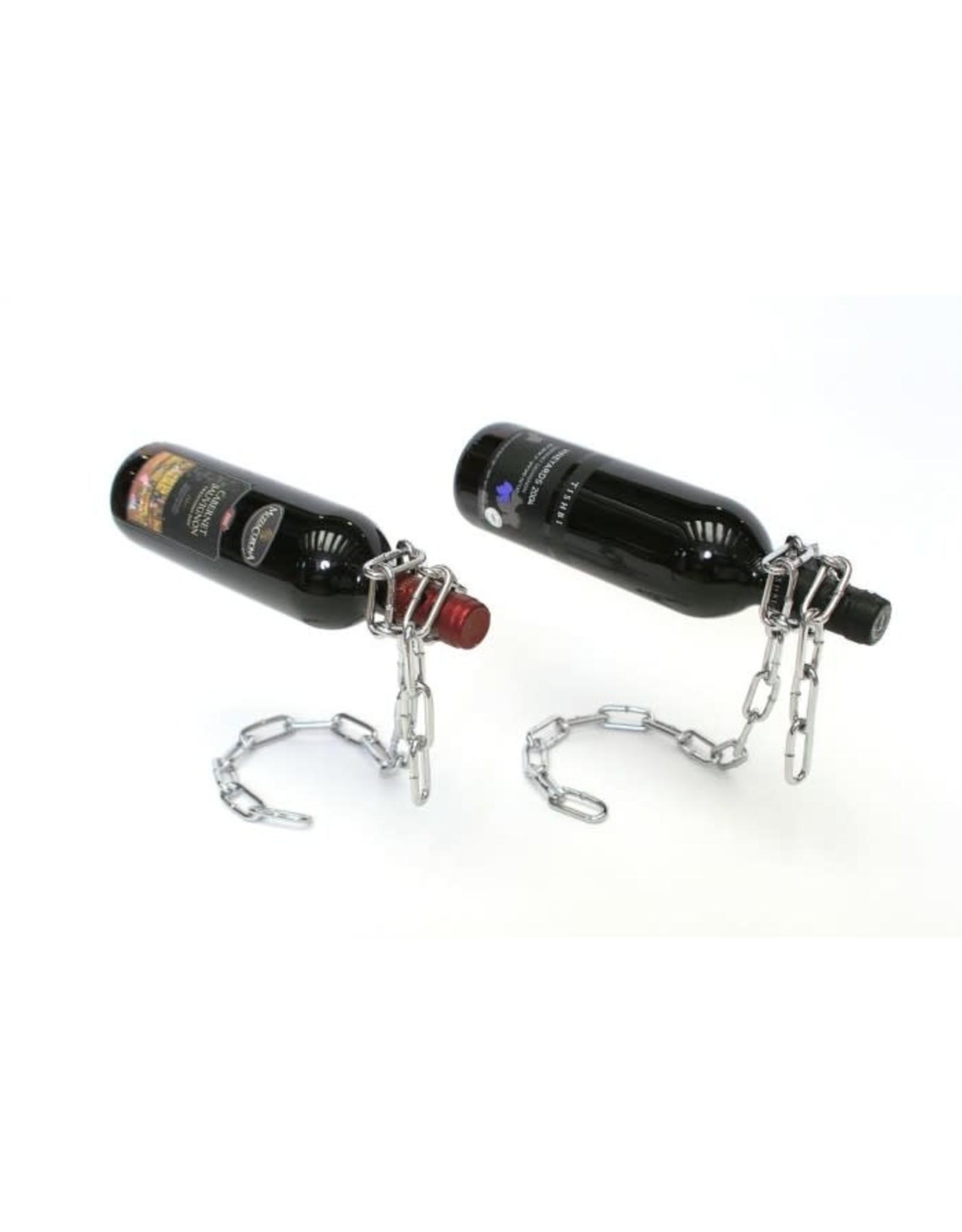 Peleg Design design bottle holder as a floating chain